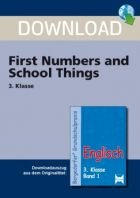 First Numbers and School Things