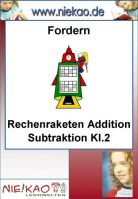 Fordern - Rechenraketen Addition Subtraktion Kl.2