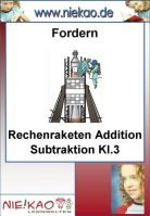 Fordern - Rechenraketen Addition Subtraktion Kl.3