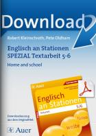 Home and school - Englisch an Stationen Textarbeit