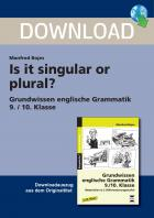Is it singular or plural?