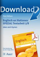 Jokes and rhymes - Englisch an Stationen Textarbeit