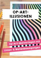 Op-Art Illusionen - Malvorlagen