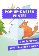 Pop-Up-Karten zum Thema Winter