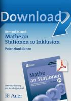 Potenzfunktionen - Mathe an Stationen inklusiv Klasse 10