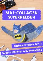 Superhelden-Mal-Collage