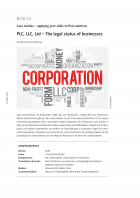 The legal status of businesses - PLC, LLC, Ltd