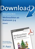 Advent - Weihnachten an Stationen Klasse 3/4