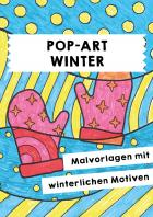 Winter: Pop-Art-Motive zum Ausmalen